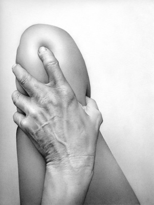 Cath Riley - flesh:  hand and knee