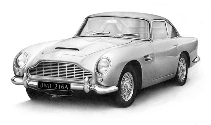 Cath Riley - recent commissions:  Aston martin